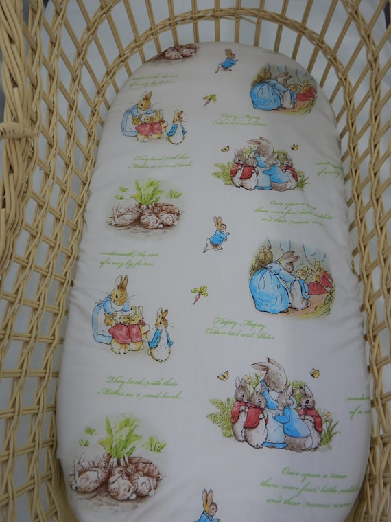 Moses basket sheet All sizes Bunny Pure cotton