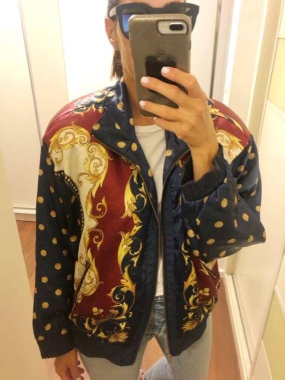 vintage bomber jacket, L-XL Jacket, sport jacket,