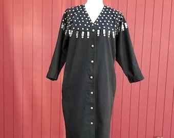 Vintage Rhinestone Denim Monique Fashions