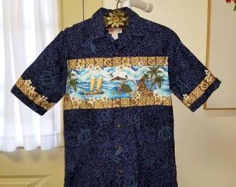 eaeba3bbc5f Vintage Hawaiian Men s Cotton Shirt