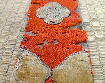 Antique Japanese Samurai Fireman's (hikeshi) 大名火消  Ate-Obi headband or waist sash. Edo period
