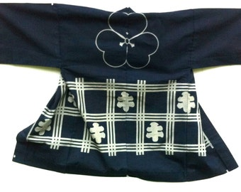 cotton hantent or  noragi Japanese antique textile   古布 木綿