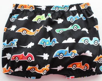 Fast Car! Baby boys bloomers  - cotton bloomers - nappy cover - diaper cover