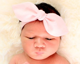 Baby headband, infant headband, adult headband - baby pink