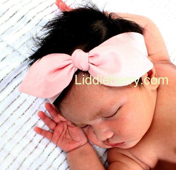 Soft Pink baby headband baby pink headbands solid plain  f9894c1745a