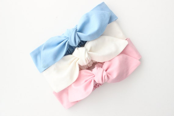 Baby Headband Set Top Knot Bow Headband Set of 3 baby  715cb2b5491