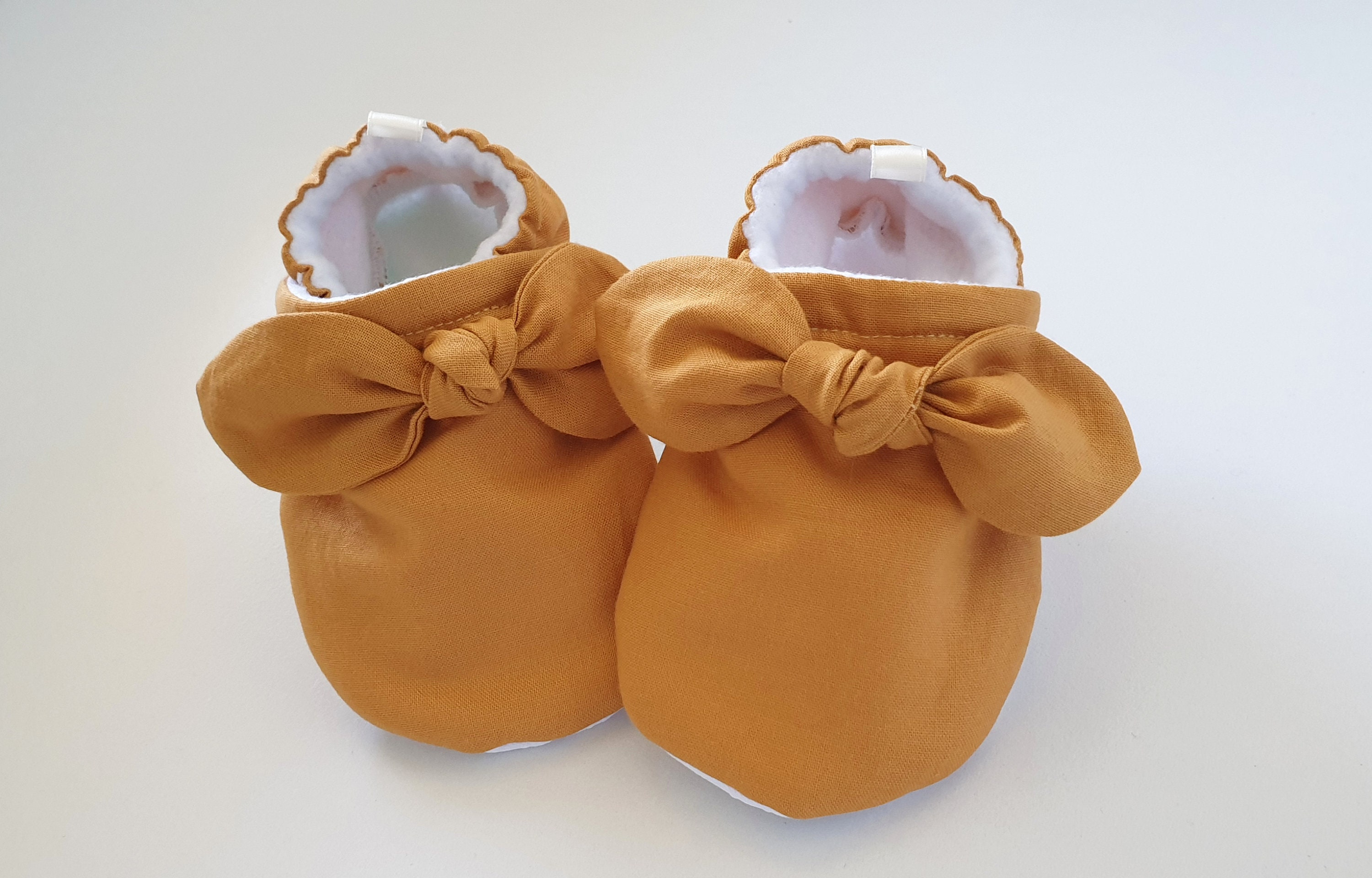 90700b8d6cfe6 Mustard baby shoes, soft baby girl shoes, baby shoes, bow baby shoes, baby  girl shoe