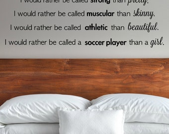 Soccer Quote Decal - Soccer Decal - Soccer Wall Decal - Athletic Quote Decal - Motivational Decal - Soccer Girl Sticker - Vinyl Soccer Quote