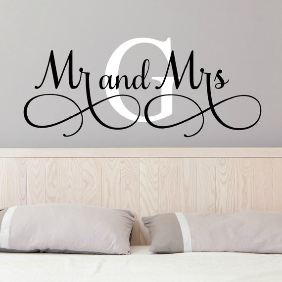Mr And Mrs Wall Decals