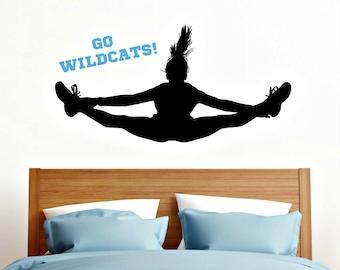 Cheerleader Decal - Cheerleader Sticker - Cheerleader Decor - Personalized Decal - Custom Team Name Decal - Custom Cheer Decal - Cheer Decor