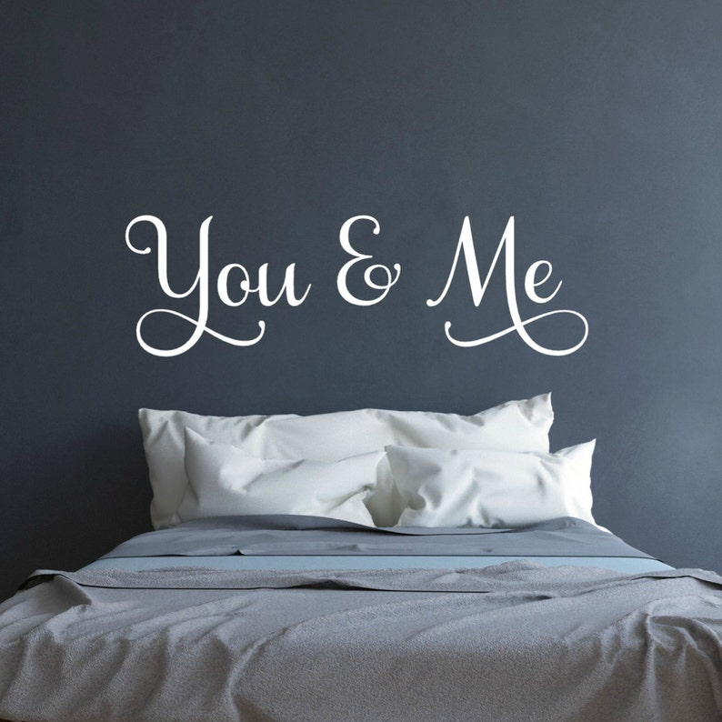 Mr and Mrs Sign Couples Decal Above the Bed Wall Art Master Bedroom Decor Love Wall Decal You and Me Wall Decal Wedding Gift