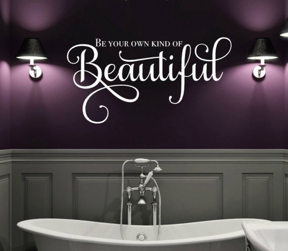 be your own kind of beautiful wall decal makeup room decor | etsy
