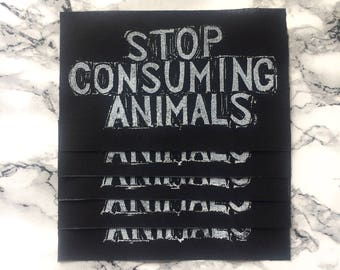Stop Consuming Animals Patch