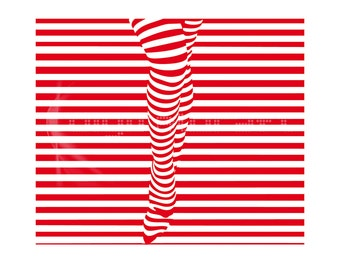 Fashion Illustration - Legs - Art to Print  - Wall Decor - Modern Wall Art - Woman - Digital Illustration - Stripes
