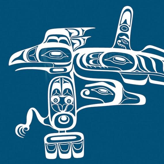 Haida Diseño Precolombino Arte Nativo Canadiense | Etsy