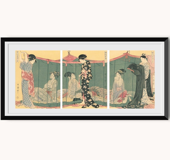 A courtesan fixing her hair Fine Art Reproduction Japanese Art Print