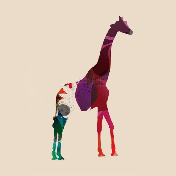 Animales Jirafa Africa Decoracion Minimalista Collage