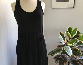 Left of Center' Black Tulipan Dress