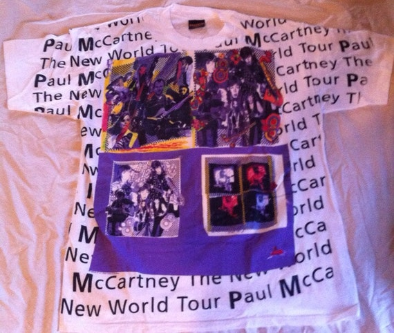 Paul McCartney New World Tour concert Tshirt