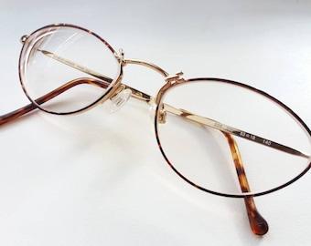 6fd5f12251d Vintage GIORGIO ARMANI 226 759 EYEGLASSES tortoise and gold horseshoes retro  very rare eyeglass frame
