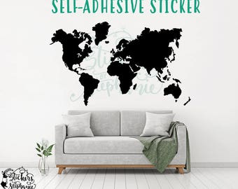 World map decal etsy more colors sticker v49 world map gumiabroncs Image collections