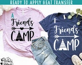 IRON ON (v305) Friends Camp Teepee Arrow Heat Applied T-Shirt Transfer Vinyl and Glitter Colors More Colors Now Available