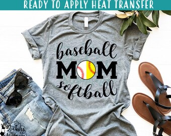 IRON ON  p41-E Round Split Red Laces) Baseball Softball Mom Split Round  Ball Half Mom Vinyl Iron On Heat Transfer 6e2b65cf29bd