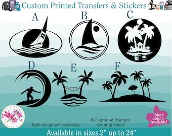 Details about  /Original Vintage Florida Palm Tree Paradise Iron On Transfer Glitter