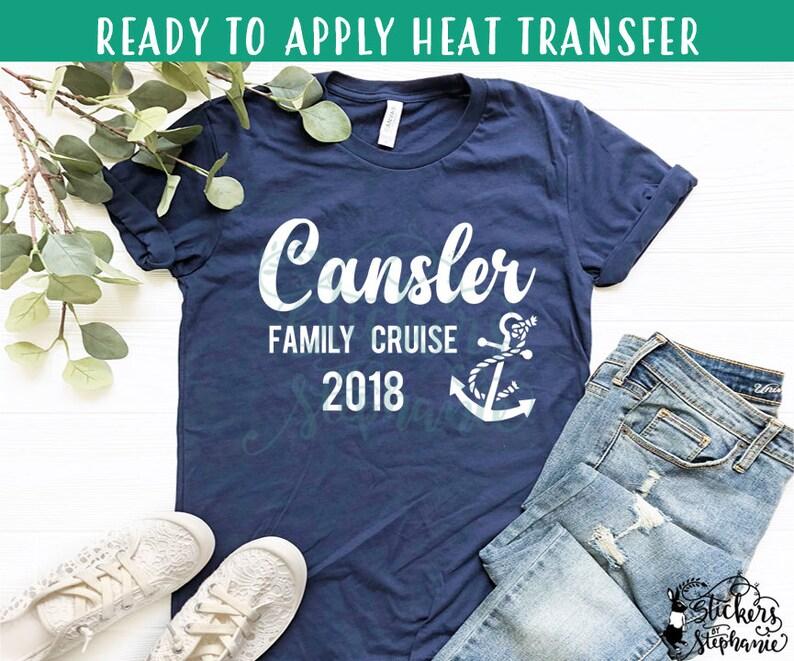 5773de12 IRON ON v353 Anchor Tropical Custom Family Cruise Vinyl | Etsy
