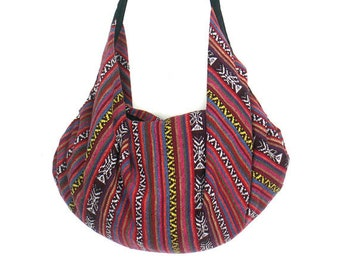 96a8527892 18.99  Tote bag Backpack Nepali cotton Hobo Large bag Crossbody Purse  Tribal Shoulder Bag Hippie bag Bohemian Handmade bag