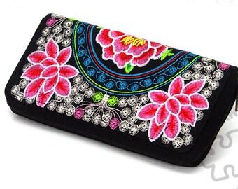 Mandala Pattern Lotus Sun Pink Vintage Pouch Girl Kiss-lock Change Purse Wallets Buckle Leather Coin Purses Key Woman Printed