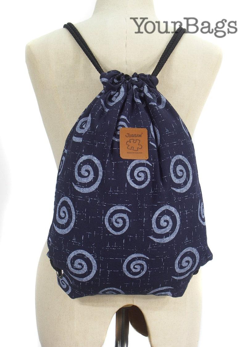 cotton lining or waterproof lining Spiral Festival backpack Cotton Backpack 2 pocket inside Blue rucksack