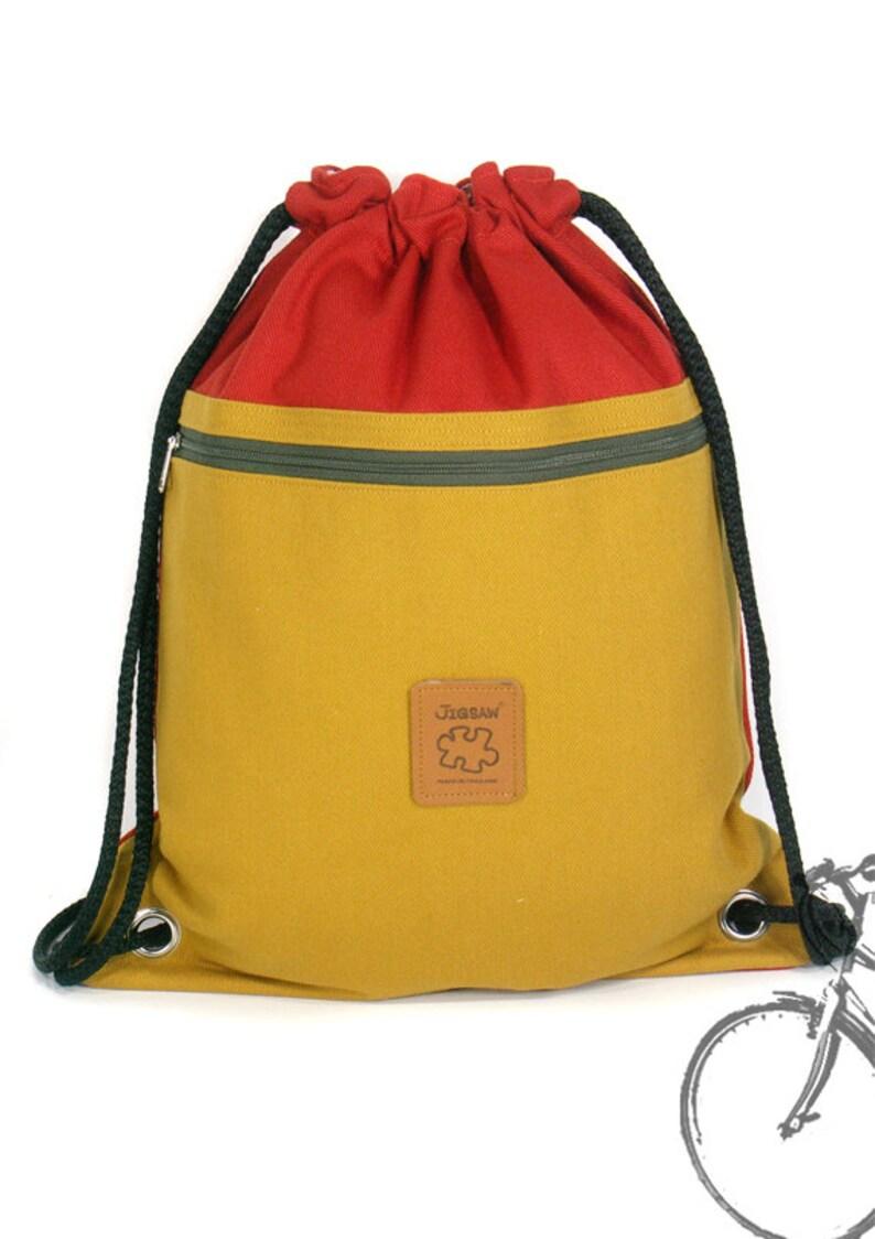 8a0f31ac616b 15% Off Orig. 18.99 Canvas backpack drawstring bag Laptop