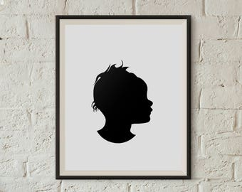 Custom Silhouette, Special Silhouette, Personalized Silhouette, Keepsake Image, Growth Chart, Watch Children Grow, Special Gift, Memories