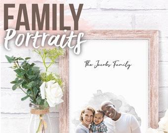 Family Portrait, Painted Portrait, Family Picture, Christmas Gift, Social Distance Portrait, Gift, Memorial Portrait, Blended Family, Paint