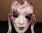 Ceramic Mask - Hand Painted from New Orleans - Artist Signed