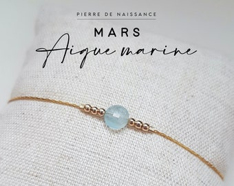 Pierre de naissance Bracelet Mars Message Inspiration Bracelet Courage /& Health Aqua