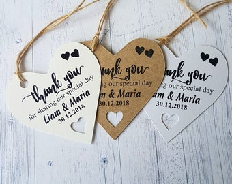 Favour Tags Wedding Tags 10x Personalised Disposable Camera Tags