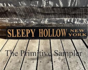 Sleepy Hollow NY, Sign Sleepy Hollow, Sleepy Hollow Decor, NY,  New York, Headless Horseman,Washington  Irving, Sleepy Hollow NY, Halloween
