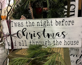 Night Before Christmas, Twas the Night Before Christmas, Christmas Decor, Farmhouse Christmas, Farmhouse Decor