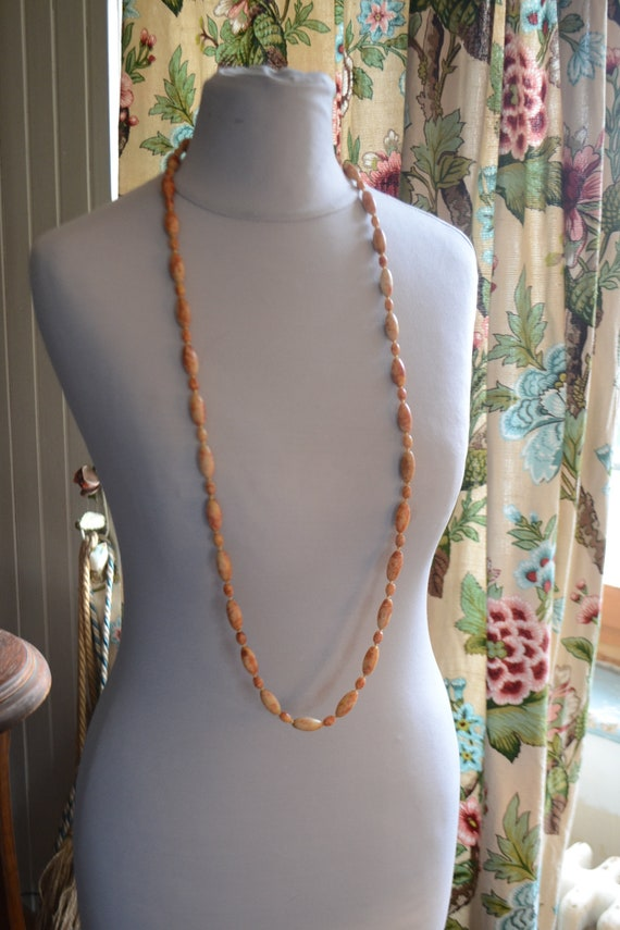 Antique french stone necklace, 1930, vintage stone