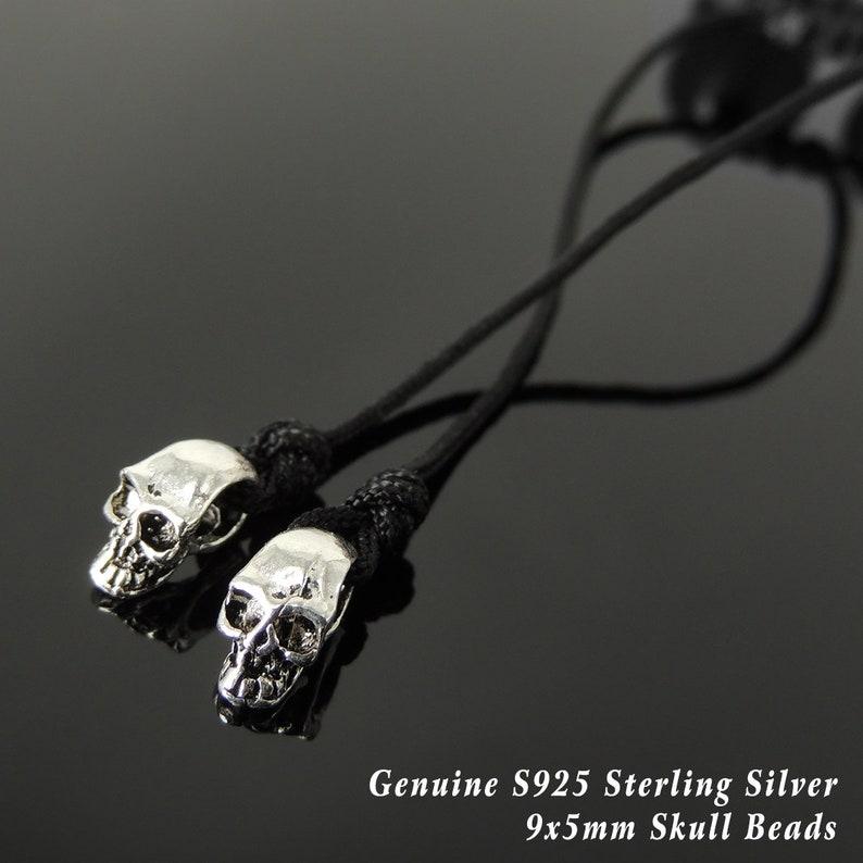 Handmade Braided Biker Skulls Bracelet Natural Red Tiger Eye 12mm Healing Gemstones Protection Mens Womens S925 Sterling Silver Charms 1580