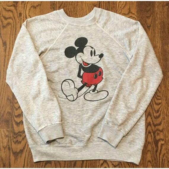 Vintage Mickey Mouse Sweatshirt Medium Crewneck Ra