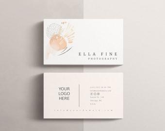 Business card edit online, Business card elegant