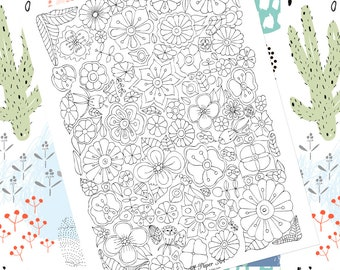 Adult Coloring Pages Download Printable Relaxation Gifts For Her Tween Girl Digital Flower