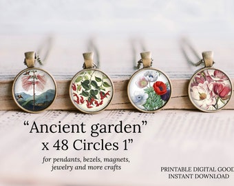 1 inch circle flowers round images