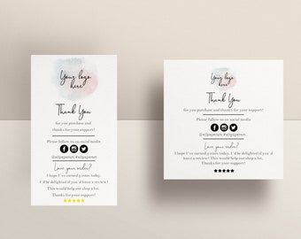 Thank you cards business Printable Review Cards, Insert Card, Feedback Cards, Business Thank You Cards