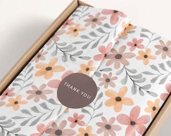 Tissue paper design download and sticker Branded Tissue Paper