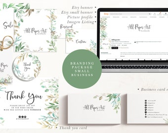 Branding package small business. Etsy banner