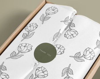 Tissue paper design download and sticker x2 Branded Tissue Paper
